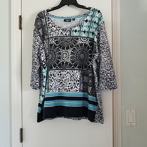Tops - Pretty 2X top with lots of pizzazz